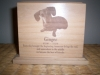 Laser engraved picture Pet Urns