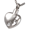 Stainless Steel Footprints on Heart