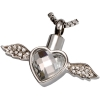 Stainless Steel Winged Heart