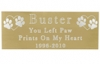 Engraved Pet Memorial Plaque- Large Brass Finish