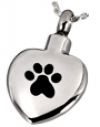 Stainless Steel Paw My Heart