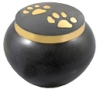 Cremation Urns Golden Pawprints Metal Grey