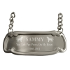 Pewter Medallion Pet Engraved Plaque