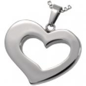Stainless Steel Affectionate Heart